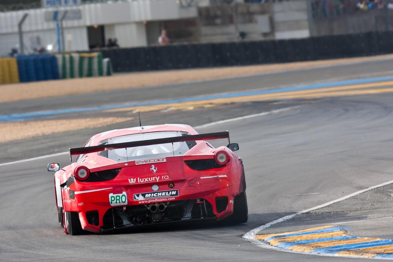 Catégorie LM GTE Pro Ferrari F458 Italia GTC Beltoise / Thiriet / Jakubowski Abandon 6h14 Sortie de route