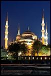 La mosquée bleue de nuit