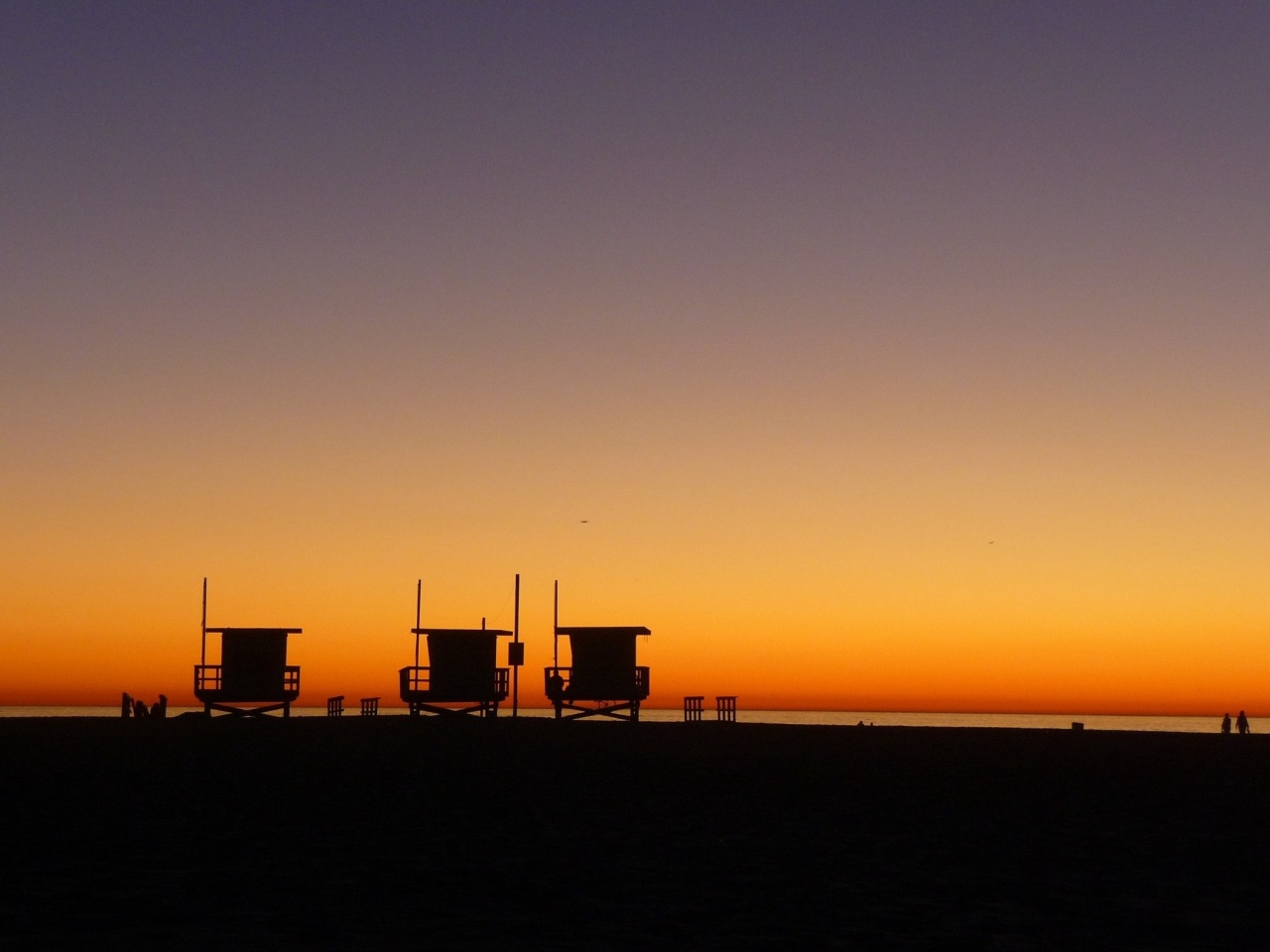 Night fall on Venice beach L.A