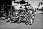 Bikes in California Beach