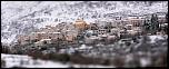 Coursegoule sous la neige, petit village des Alpes-Maritimes, derrière le Col de Vence