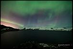Aurore boréale sur le lac Kleifarvatn