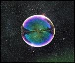 bulle avec éclaboussure