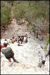 S15- Vue d'en haut Le temple Maya Nohoch Mul de Coba Méxique - 113 marches