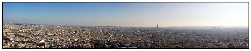 Panorama de Paris depuis Montmartre 110255309